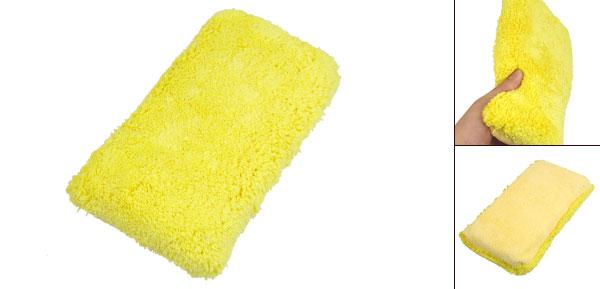 Yellow 2 in 1 Design Auto Car Wash Dry Microfiber Sponge Pad