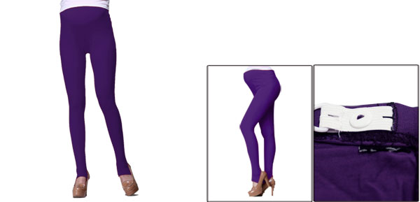 Motherhood Elastic Waistband Autumn Slim Fit Purple Cozy Anchored Leggings XS