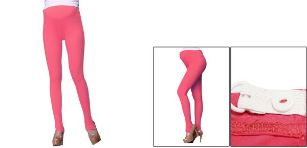 Autumn Custom Fit Watermelon Red Stretch Anchored Leggings For Maternity XS