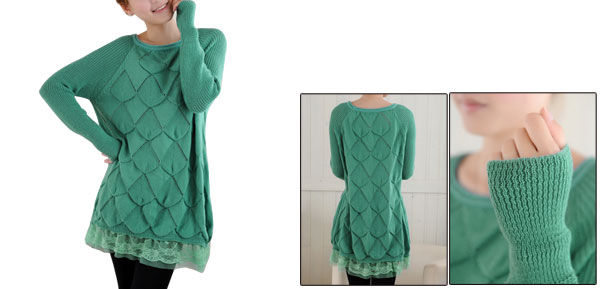 Maternity Pullover Stretch Long Sleeve Dusty Green Warm Knitwear S