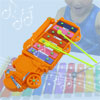 Orange Serinette Metal Truck Music Maker Xylophone Instrument Toy
