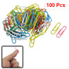100 Pcs Multicolor Plastic Coated Metal Money Invoice Paper Clips w Box
