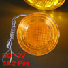 2 Pcs DC 12V 6A Orange 9 LED Round Shape Car Turning Signal Light...