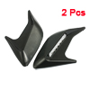 2 Pcs Vehicle Cars Decorating Air Flow Vent Fender Stickers Silver Tone Black