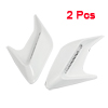 2 Pcs Auto Cars Decoration Air Flow Vent Fender Stickers Silver Tone White
