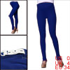 Autumn Button Adjust Waistband Slim Fit Cozy Stretch Motherhood Blue Foot Tights XS