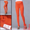 Autumn Stretch Button Adjust Waistband Orange Anchored Leggings F...