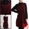 Burgundy Pregnancy Knit Decor String Back Pullover Leisure Dress M