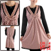 Pregnancy Women Lace Decor V Neckline Pullover Dusty Pink Black D...