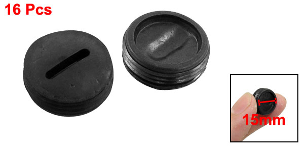 16 Pcs 15mm Diameter Thread Carbon Brush Holder Back Cap