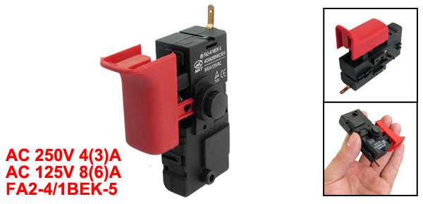 AC 250V 4(3)A/125V 8(6)A SPST Lock on Trigger Switch for Bosch 2-26 Churn Drill