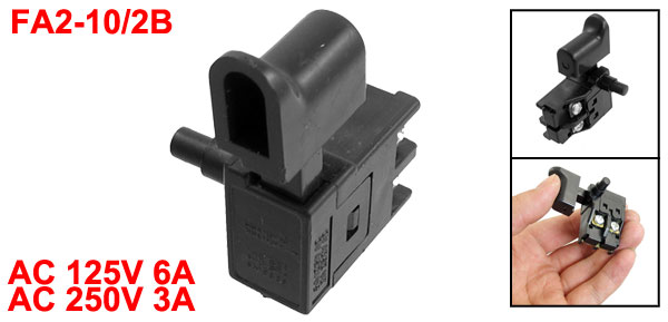 AC125V 6A/250V 3A DPST Lock on Manual Trigger Switch for Marble Cutting