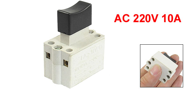 AC 220V 10A DPST Momentary Manual Trigger Switch for 380 Cutting Machine