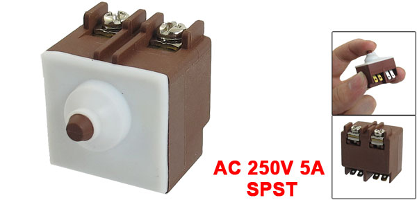 AC 250V 5A SPST Momentary Electric Tool Switch for Bosch Angle Grinder