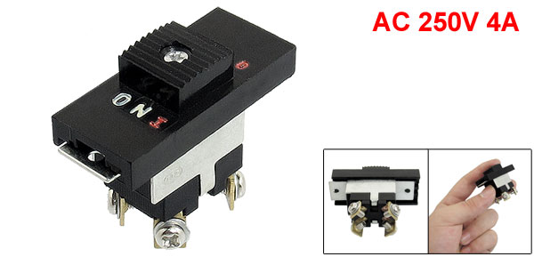 AC 250V 4A DPST NO Latching Electric Tool Switch for 9045 Sander