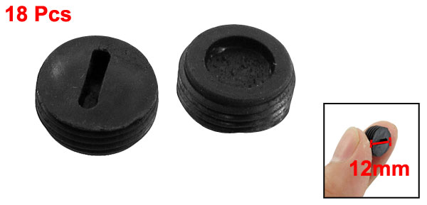 18 Pcs 12mm Diameter Thread Carbon Brush Holder Back Cap