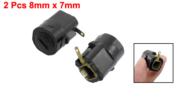 2pcs 8mm x 7mm Hole Carbon Brush Holder for Hitachi Angle Grinder