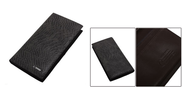 Mens New Fashion Alligator Pattern Design Six Card Slots Gray Secretary Wallet
