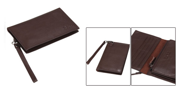 Mens Stylish Brown Flip Open Multiple Card Holders Design Brown Clutch Bag