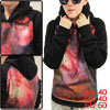 Mens Ombre Design Long Sleeve Pullover Rib Hem Casual Hooded M Fu...