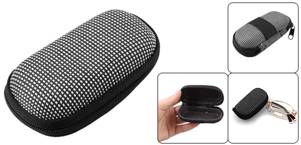 Black White Dotted Cover Case Holder for Folding Presbyopic Reading Glasses