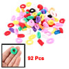 92 Pcs Multicolor Elastic Hair Tie Ponytail Holder for Little Gir...
