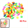 80 Pcs Multicolor Cylindrical Oval Shape Plastic Bicycle Spoke Be...