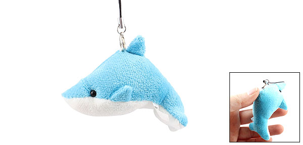 Blue White Dolphin Camera Handbag Purse Phone Strap String Hanger Ornament