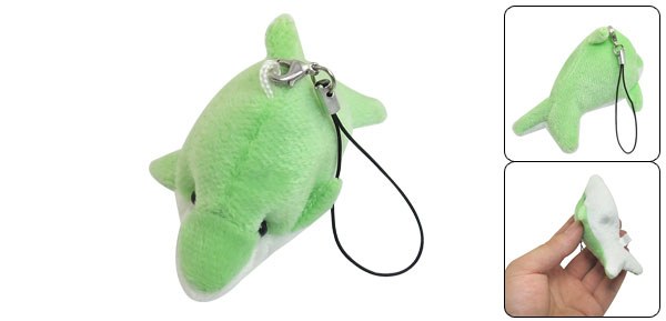 Green White Dolphin Camera Handbag Purse Phone Strap String Hanger Ornament