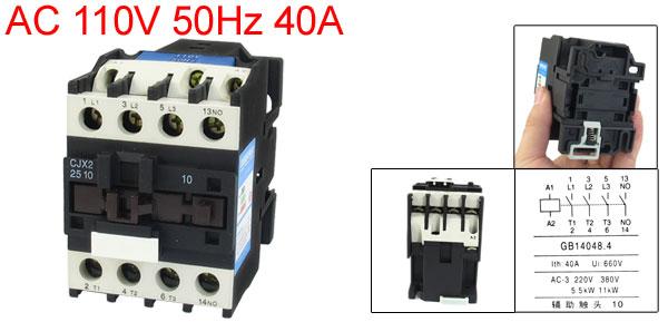 110V Coil Motor Controler AC Contactor 3 Pole NO N/O 660V 15KW CJX2-2510