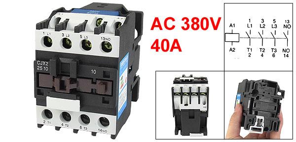 380V Coil Motor Controler AC Contactor 3 Pole NO N/O 660V 15KW CJX2-2510