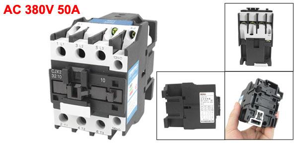 CJX2-3210 380V 50A 15KW 3 Poles 3P NO DIN Rail AC Contactor 220V Coil