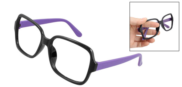 Single Bridge Full Rim Purple Classic Spectacles Glasses Eyeglasses Frame