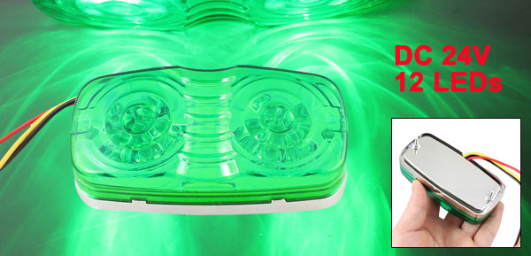 Auto Car Lighting Decoration Three Modes 12 Green LEDs Light Lamp