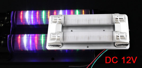 Car Truck Double Tube 12 Colorful LED Interior Roof Dome Lamp Light