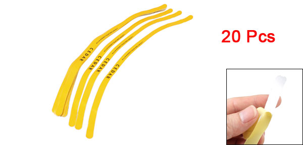Auto Car Rim Stripe Wheel Vinyl Decal Tape Sticker Yellow 20 Pcs