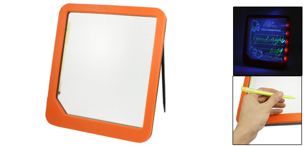 Advertisement Erasable Illuminated Blue LED Writing Message Board Orange Red