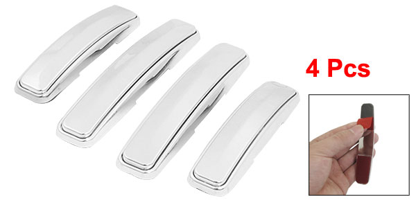 Car Exterior Plastic Stick-on Door Guard Bumper Silver Tone 4pcs