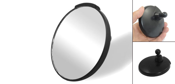 Auto Car Black Stick-on Wide Angle Round Rearview Blind Spot Mirror 3.15