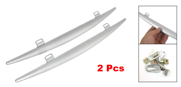 2 Pcs Auto Car Silver Tone Bladed Windscreen Wiper Mate 13.8