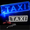 Blue LED Transparent PMMA TAXI Board Neon Light Lamp Car Power