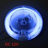 Car Auto On Door Off Switch Circle Tube Blue Light Indoor Lamp DC 12V