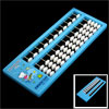 Children Intelligence 11 Digits Japanese Abacus Counting Tool Light Blue White