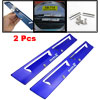 2 Pcs Blue Metal Automobile Windscreen Wiper Aid Blades