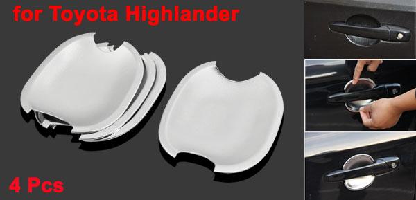 4 Pcs Chrome Plated Car Door Handle Bowl Trim Cover for Toyota Highlander