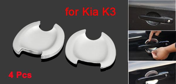 4 Pcs Chrome Plated ABS Car Door Handle Bowl Cap Trim for Kia K3