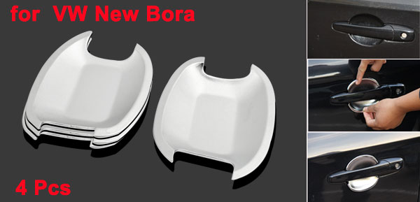 4 Pcs Adhesive ABS Door Handle Bowl Cover Assembly for VW New Bora