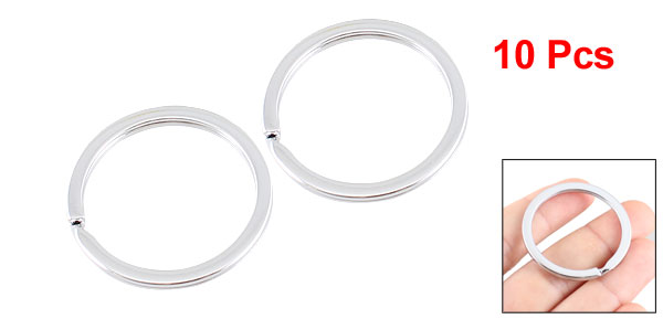 29mm Inner Dia Silver Tone Split Rings Replacement Keyring 10 Pcs