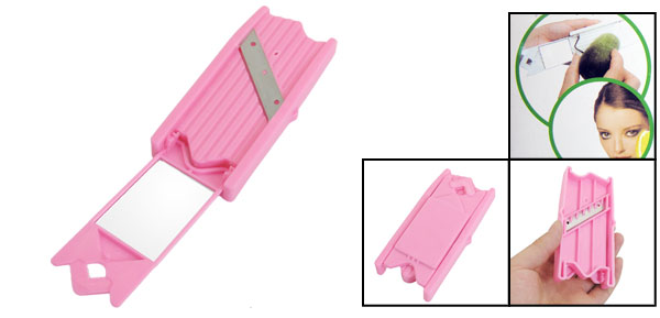 Beauty Multi-function Cucumber Fruit Steel Slicer Cut Peeler Blade w a Mirror Pink