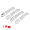 4 Pcs Adhesive Car Door Handle Cover Silver Tone for Nissan Livin...